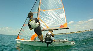 ecole de sport dériveur au centr nautique de pénestin, sud morbihan 56